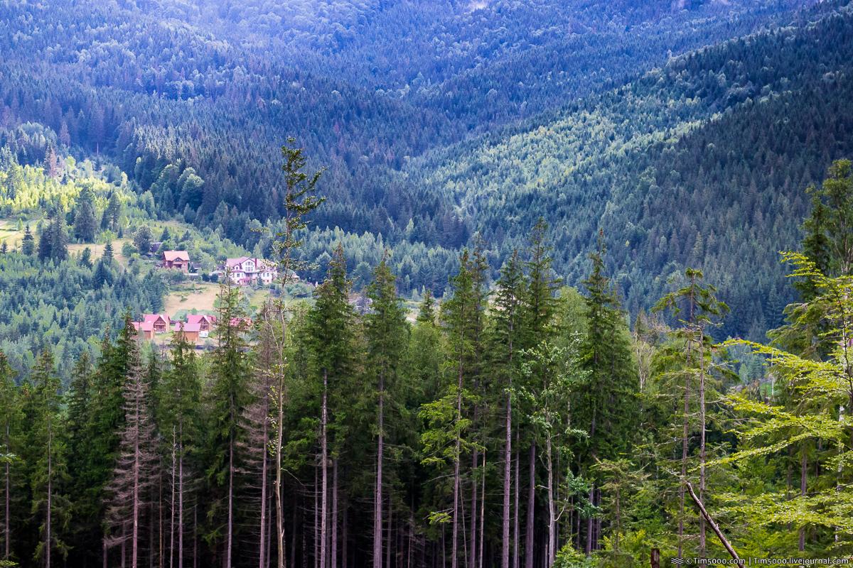 Село Мысливка. Гора Малый Пустошак